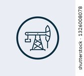 pump jack icon in trendy design ...