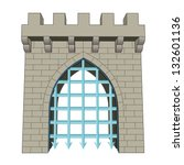 Isolated Medieval Closed Gate...
