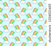 seamless pattern with cute... | Shutterstock .eps vector #1326021605