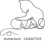 continuous one line drawing of... | Shutterstock .eps vector #1326027245