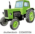 Farm tractor - stock vector