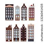 amsterdam. set of houses.... | Shutterstock .eps vector #1326041435