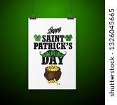 lettring for saint patricks day.... | Shutterstock .eps vector #1326045665