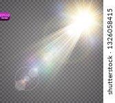 vector transparent sunlight... | Shutterstock .eps vector #1326058415