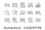 search line icons. indexation ... | Shutterstock .eps vector #1326059798