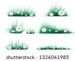 Green Grass On A Transparent...