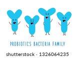 funny probiotics bacteria... | Shutterstock .eps vector #1326064235