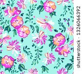 bright and cute floral print  ...   Shutterstock .eps vector #1326066392