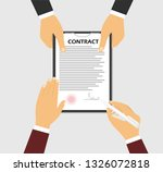 signing a contract. the concept ... | Shutterstock .eps vector #1326072818