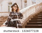 outdoor fashion portrait of... | Shutterstock . vector #1326077228