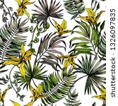 seamless pattern with green... | Shutterstock .eps vector #1326097835