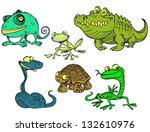 collection of reptiles and... | Shutterstock .eps vector #132610976