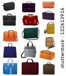 a set of men's bags on white... | Shutterstock .eps vector #132613916