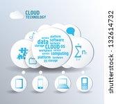 cloud concept blue color.... | Shutterstock .eps vector #132614732