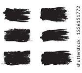 brush stroke set isolated on... | Shutterstock .eps vector #1326151772