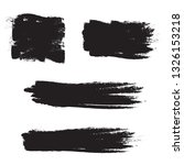 brush stroke set isolated on... | Shutterstock .eps vector #1326153218