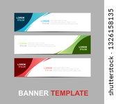 vector abstract web banner... | Shutterstock .eps vector #1326158135