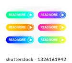 gradient buttons set isolated...