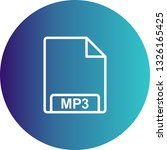 vector mp3 icon  | Shutterstock .eps vector #1326165425