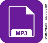 vector mp3 icon  | Shutterstock .eps vector #1326179585