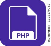 vector php icon  | Shutterstock .eps vector #1326179762