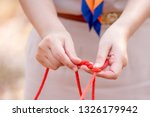 scout knot learning in forest... | Shutterstock . vector #1326179942