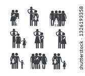 set family member together with ... | Shutterstock .eps vector #1326193358