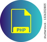 vector php icon  | Shutterstock .eps vector #1326202805