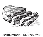sketch hand drawn raw fried... | Shutterstock .eps vector #1326209798