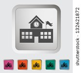school building. single icon.... | Shutterstock .eps vector #132621872