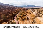 top view of rainbow mountains... | Shutterstock . vector #1326221252