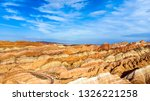 top view of rainbow mountains... | Shutterstock . vector #1326221258