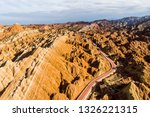 top view of rainbow mountains... | Shutterstock . vector #1326221315