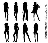 young women with fashionable... | Shutterstock . vector #132622376