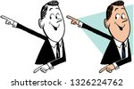 a cartoon of a man pointing in... | Shutterstock .eps vector #1326224762