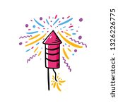 firecracker hand drawn vector... | Shutterstock .eps vector #1326226775