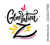 generation z. hand drawn vector ... | Shutterstock .eps vector #1326227582