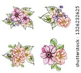 flowers set. collection of... | Shutterstock . vector #1326232625