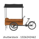 bike food cart isolated. 3d... | Shutterstock . vector #1326242462