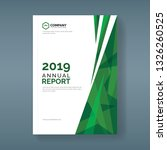 annual report template with... | Shutterstock .eps vector #1326260525