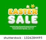 vector cute banner easter sale... | Shutterstock .eps vector #1326284495