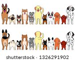 large and small dogs border set | Shutterstock .eps vector #1326291902