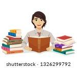 illustration of a teenage guy... | Shutterstock .eps vector #1326299792