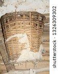 old destroyed wooden basket | Shutterstock . vector #1326309302