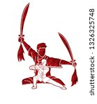 kung fu fighter  martial arts... | Shutterstock .eps vector #1326325748