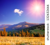 mountain landscape with bright... | Shutterstock . vector #132632666