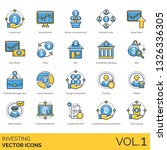 investing icons including... | Shutterstock .eps vector #1326336305
