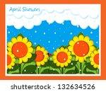 april showers | Shutterstock . vector #132634526