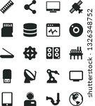 solid black vector icon set  ... | Shutterstock .eps vector #1326348752