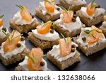 delicious catering finger food... | Shutterstock . vector #132638066